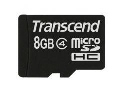 Карта памяти Transcend microSDHC 8 GB Class 4