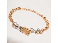 Браслет Xuping №4 20см сочетание двух цветов золота и серебра