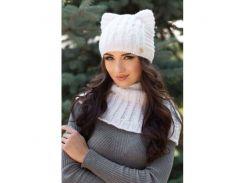 Комплект «Лекси» (шапка-кошка и шарф-хомут)