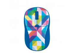 Мышь Trust Primo Wireless Mouse Blue Geometry