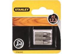 Биты Stanley Pz1, Pz2, Pz3, 25мм, 3шт.