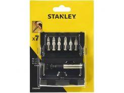 Биты Stanley набор бит 25мм. 6шт. + магнитный держатель L-60мм.