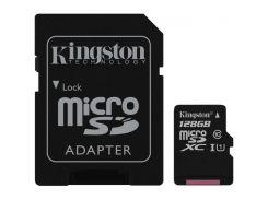 Карта памяти Kingston microSDXC 128GB UHS-I U1 Canvas Select (SDCS/128GB) + SD адаптер