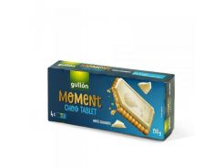 Печенье Gullon Moment Choco Tablet White Chocolate, 150 г (Испания)