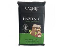 Шоколад молочный Cachet Milk Chocolate Huzelnute 32%, 300 г (Бельгия)