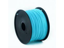 Филамент пластик Gembird (3DP-ABS1.75-01-LB) для 3D-принтера, ABS, 1.75 мм, светящийся синий, 1кг