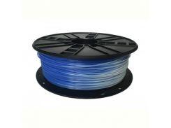 Филамент пластик Gembird (3DP-PLA1.75-01-BW) для 3D-принтера, PLA, 1.75 мм, синий в белый, 1кг