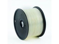 Филамент пластик Gembird (3DP-PLA3.0-01-TR) для 3D-принтера, PLA, 3 мм, белый прозрачный, 1кг