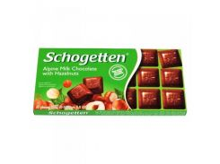 Шоколад молочный Schogetten Alpine Milk with Hazelnuts, 100 г (Германия)