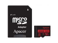 Карта памяти APACER microSDXC 128GB UHS-I U1+adapter (R85MB/s)