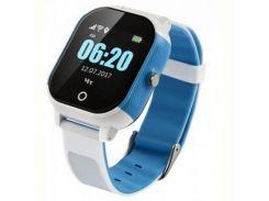 Детские смарт-часы GoGPS ME К23 Синий с белым (K23BLWH)