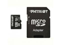 Карта памяти MicroSDXC 128GB UHS-I Class 10 Patriot LX + SD-adapter (PSF128GMCSDXC10)