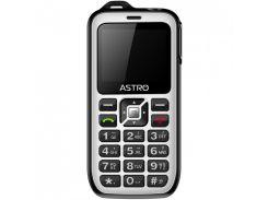 мобильный телефон astro b200 rx dual sim black/white