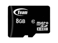 Карта памяти MicroSDHC   8GB Class 10 Team + SD-adapter (TUSDH8GCL1003)
