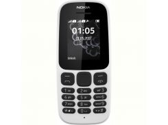 мобильный телефон nokia 105 new 2017 dual sim white
