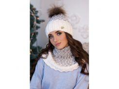 Комплект «Вилена» (шапка и шарф-хомут)