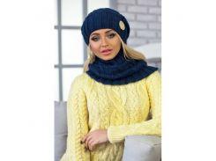 Комплект «Вираж» (шапка и шарф-хомут)