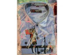 Рубашка детская, подростковая Verton длинный рукав Slimfit приталенная. Голубая + полоска