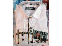 Рубашка детская, подростковая Verton длинный рукав Slimfit приталенная. Белая + полоска тонкая 2