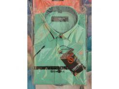 Рубашка детская, подростковая Verton короткий рукав. Зимняя мята