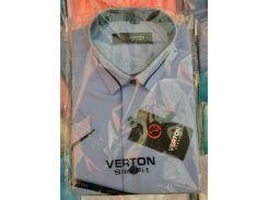 Рубашка детская, подростковая Verton короткий рукав. Светло-голубая