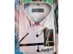 Рубашка детская, подростковая Verton короткий рукав. Белая + кант 2