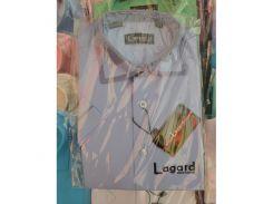 Рубашка детская, подростковая Lagard короткий рукав. Синяя + кант