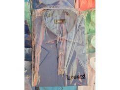 Рубашка детская, подростковая Lagard короткий рукав. Фиолетовая + кант