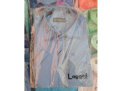 Рубашка детская, подростковая Lagard короткий рукав. Голубая + кант 2