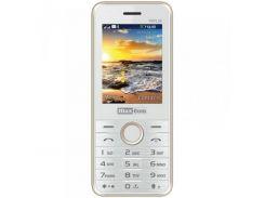 Мобильный телефон Maxcom MM136 Dual Sim White-Gold (5908235973500)