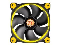 Вентилятор Thermaltake Riing 12 LED Yellow (CL-F038-PL12YL-A), 120х120х25 мм, 3pin, черный