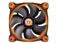 Вентилятор Thermaltake Riing 14 LED Orange (CL-F039-PL14OR-A), 140х140х25 мм, 3pin, черный