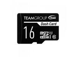Карта памяти MicroSDHC  16GB UHS-I Class 10 Team Dash Card + SD-adapter (TDUSDH16GUHS03)