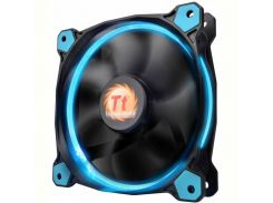Вентилятор Thermaltake Riing 12 LED Blue (CL-F038-PL12BU-A), 120х120х25 мм, 3pin, черный