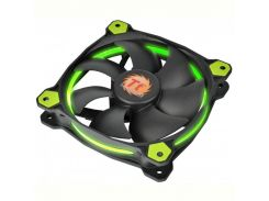 Вентилятор Thermaltake Riing 12 LED Green (CL-F038-PL12GR-A), 120х120х25 мм, 3pin, черный