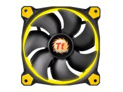 Вентилятор Thermaltake Riing 14 LED Yellow (CL-F039-PL14YL-A), 140х140х25 мм, 3pin, черный