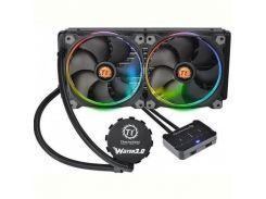 Система водяного охлаждения Thermaltake Water 3.0 Riing RGB 280 (CL-W138-PL14SW-A), Intel: 2066/2011/2011-3/1150/1151/1155/1156/1366, AMD: TR4/AM4/FM1/FM2/AM2/AM2+/AM3/AM3+, 313x139x27 мм, 5-pin