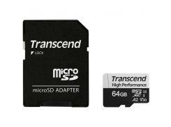 Карта памяти TRANSCEND microSDHC 330S 64GB UHS-I U3 A2