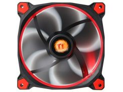 Вентилятор Thermaltake Riing 14 LED Red (CL-F039-PL14RE-A), 140х140х25 мм, 3pin, черный