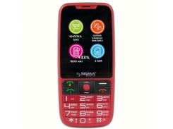 мобильный телефон sigma mobile comдляt 50 elegance3 dual sim red