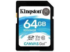 Карта памяти Kingston SDXC 64GB Canvas Go Class 10 UHS-I U3 (SDG/64GB)