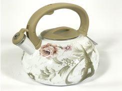 Эмалированный чайник со свистком Hoffner 4933 Paris flowers 3,3 литра