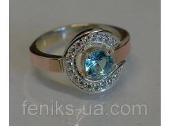 Серебряное кольцо с накладками из золота (003 к)