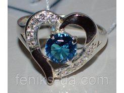 Серебряное кольцо с золотыми пластинками (066к)