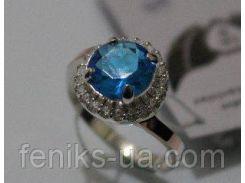 Серебряное кольцо с золотой вставкой (ch0011)