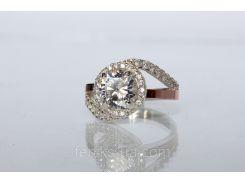 Серебряное кольцо с золотом (ch0012)