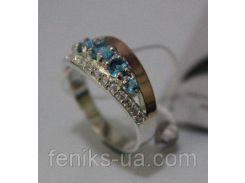 Кольцо из серебра с золотом (ch0013)