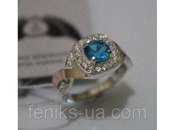 Серебряное кольцо с фианитами (ch0015)
