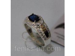 Серебряное кольцо с золотой накладкой (ch0017)
