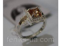 Серебряное кольцо с золотыми вставками (ch0018)